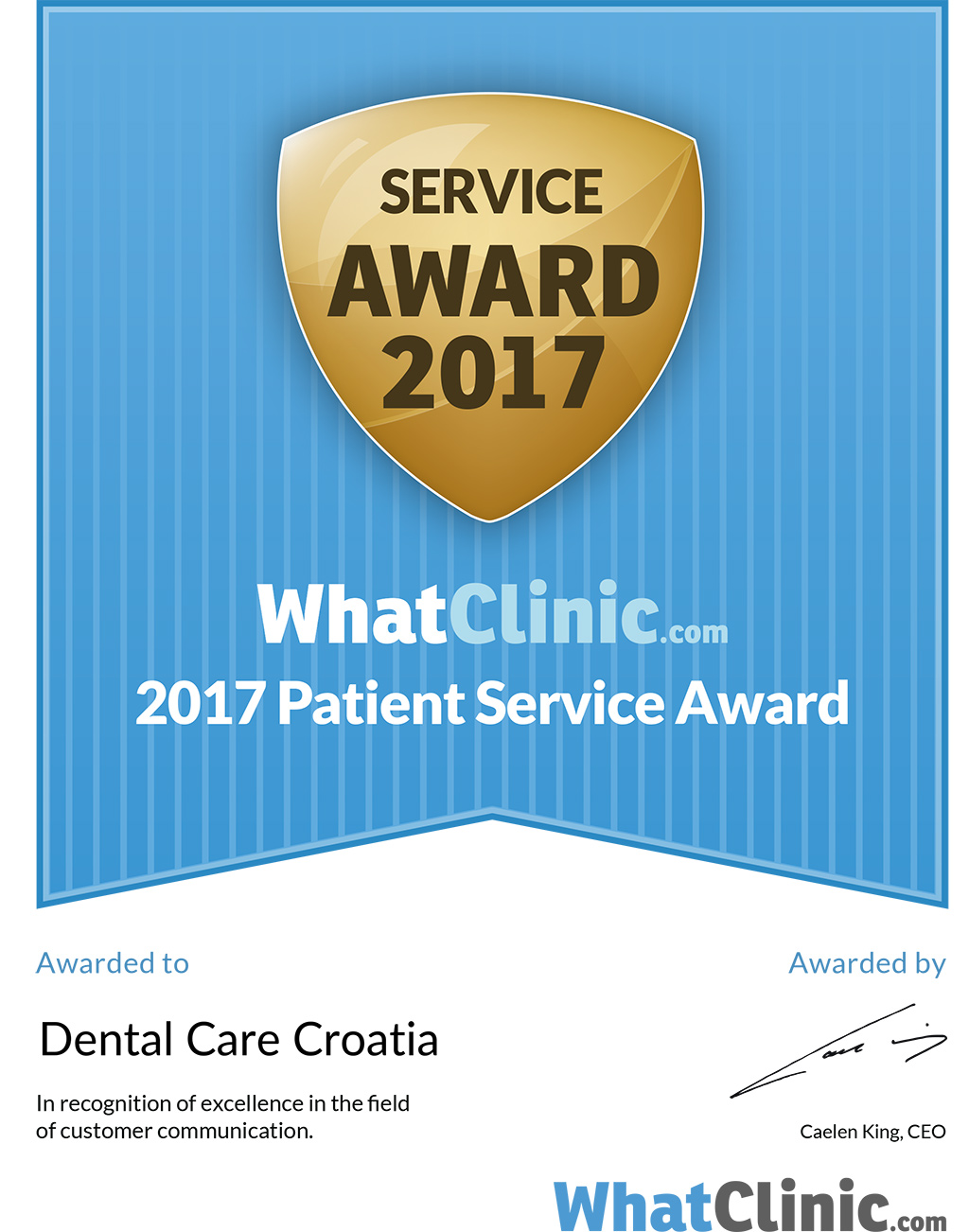 Whatclinic.com certifikat